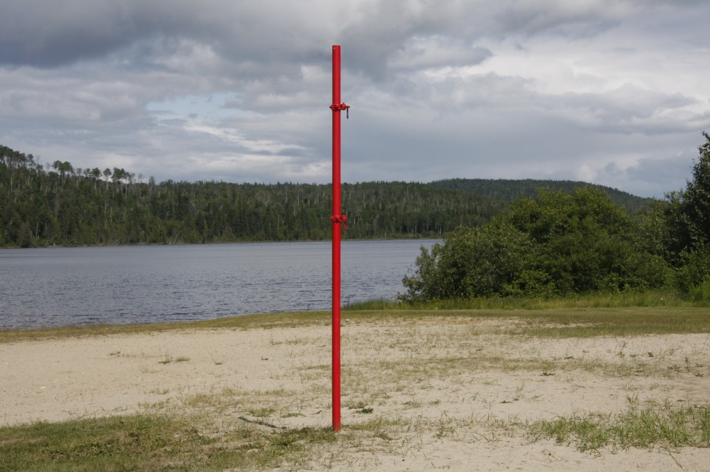 Manitouwadge Lake with Red Pole